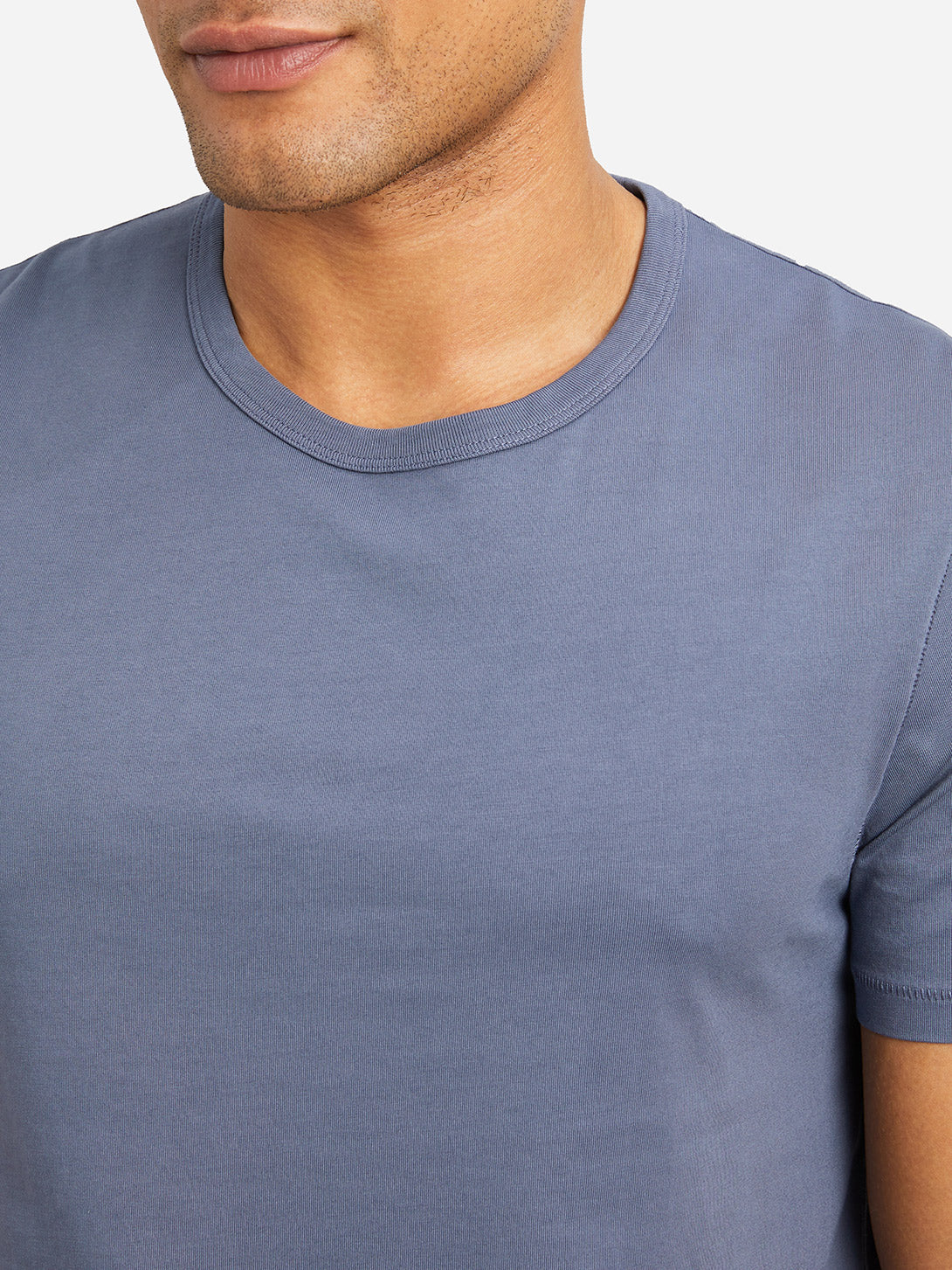 INDIGO BLUE short sleeve crew neck t shirt village crew neck t shirt indigo blue