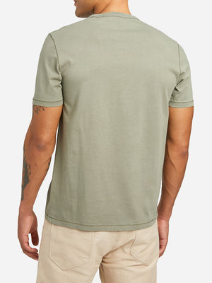 LIGHT GREEN short sleeve crew neck t shirt village crew neck t shirt light green