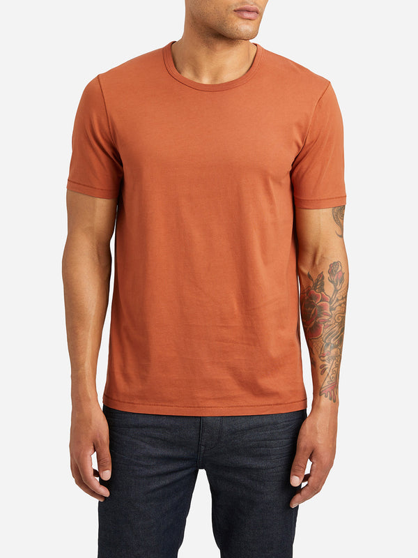ORANGE short sleeve crew neck t shirt village crew neck t shirt orange