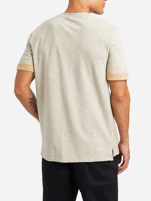 HEATHER BEIGE mens t shirts crew neck tee archer tee ons clothing