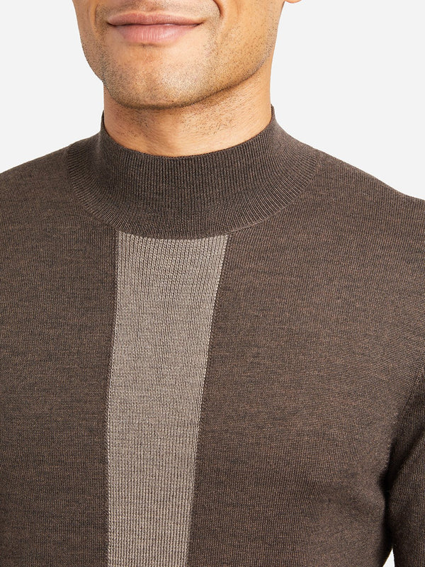 BROWN STRIPE sweaters for men mason mock neck sweater ons clothing