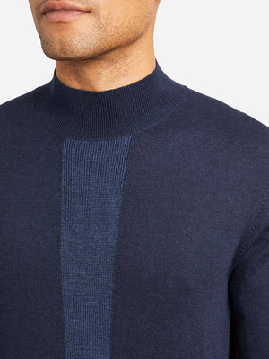 NAVY STRIPE sweaters for men mason mock neck sweater ons clothing
