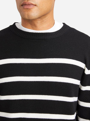 JET BLACK mens sweater chapman sweater black