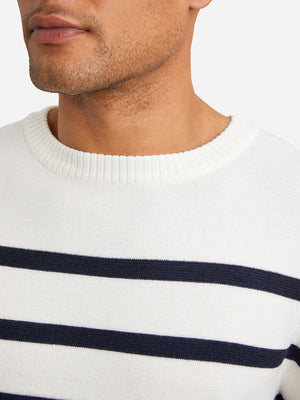 WHITE mens sweater chapman sweater white