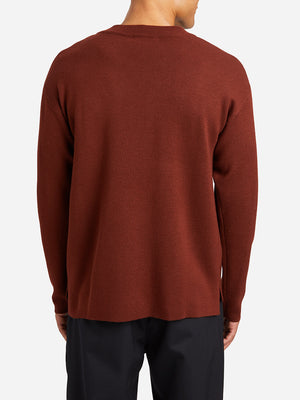BURNT BRICK RED sweaters for men vincent pocket sweater ons clothing