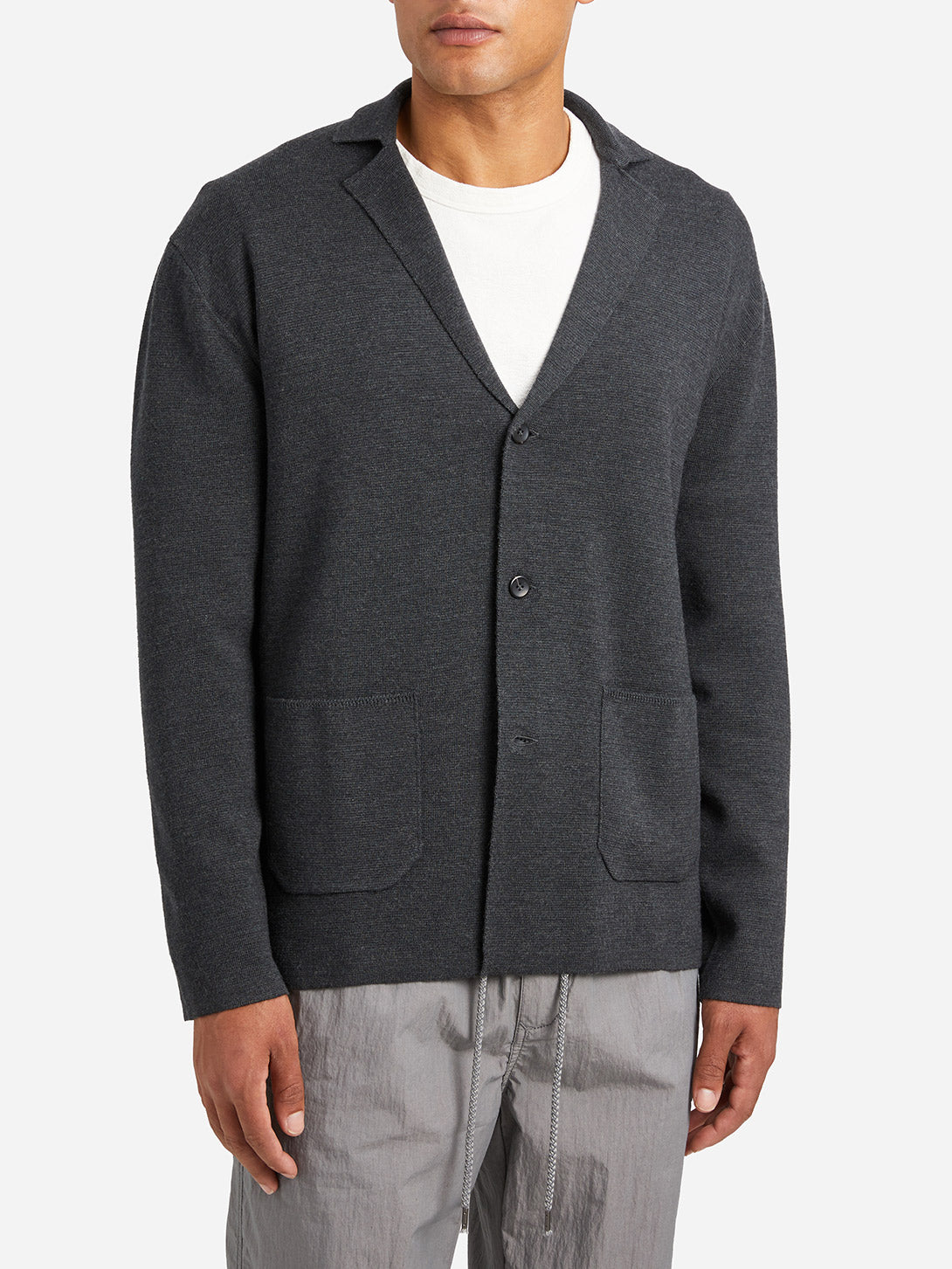 CHARCOAL GREY sweaters for men cole cardigan grey ons clothing