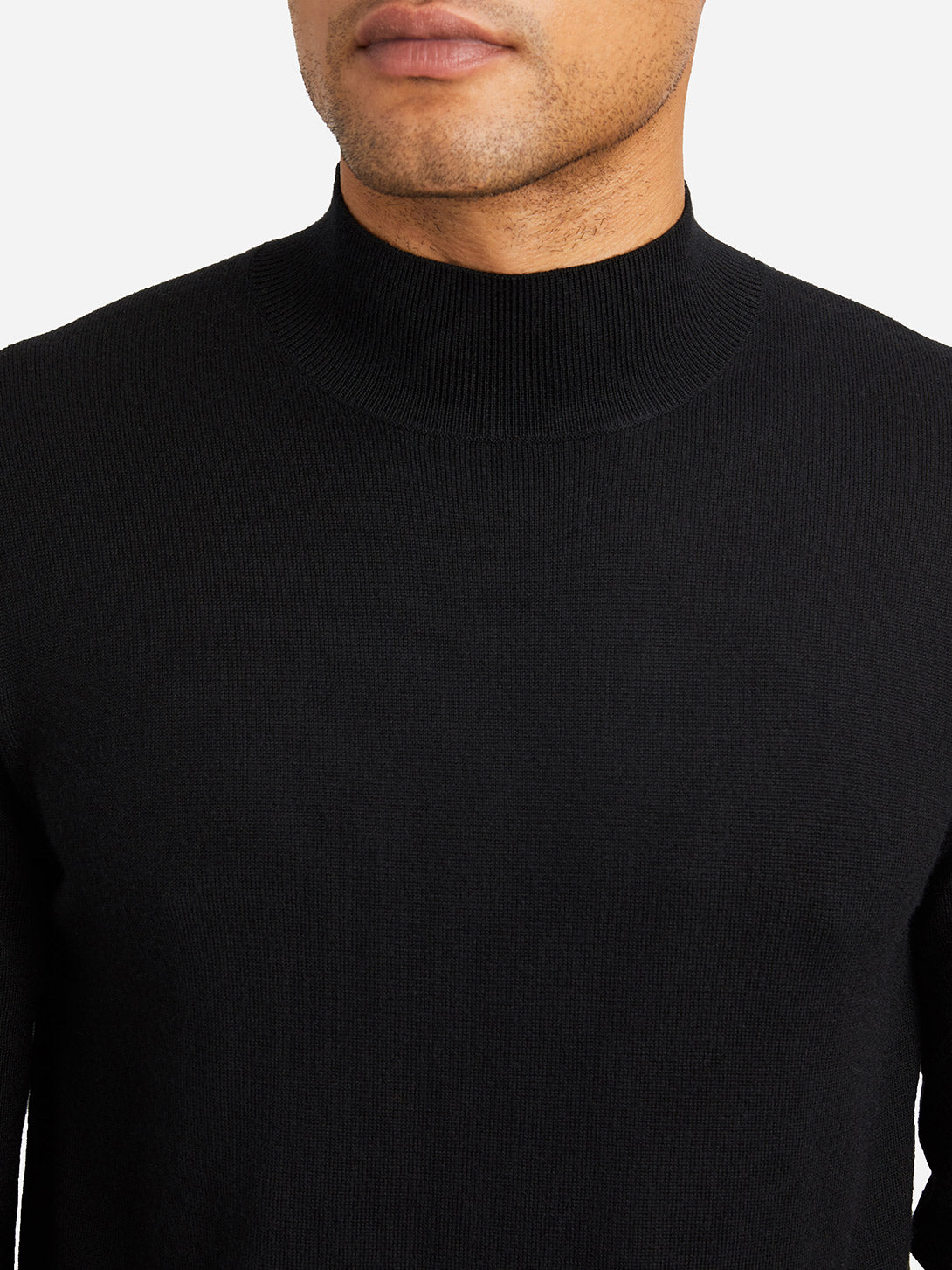JET BLACK sweaters for men mason mock neck sweater ons clothing