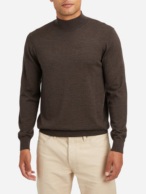 HEATHER BROWN sweaters for men mason mock neck sweater ons clothing