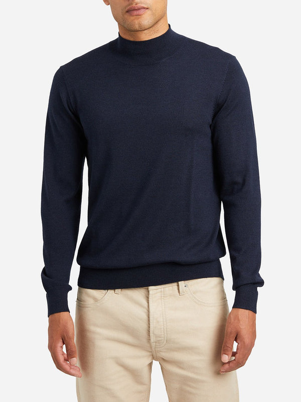 HEATHER NAVY sweaters for men mason mock neck sweater ons clothing