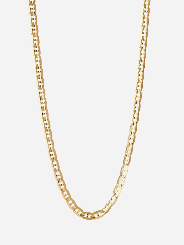 HIGH POLISH GOLD CARLOS NECKLACE