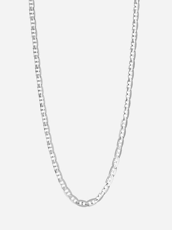 HIGH POLISH SILVER CARLOS NECKLACE