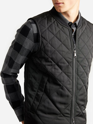 ons garage men's vest BLACK