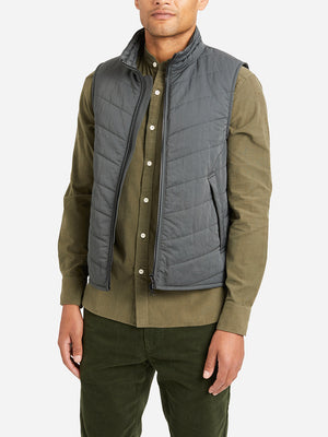 DARK GREEN vests for men vertex vest ons clothing