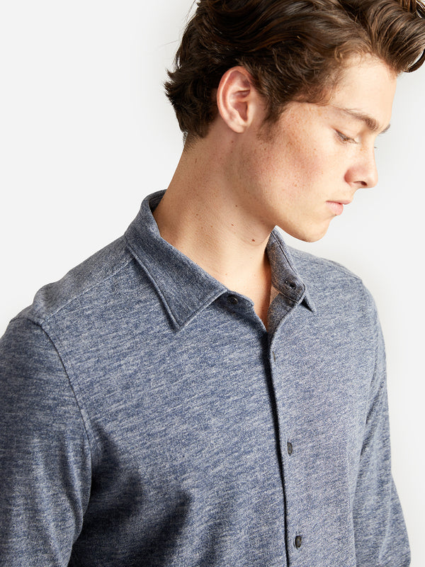ons garage men's shirt navy-heather