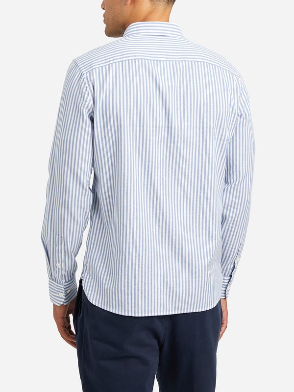 BLUE STRIPE oxford shirt mens dress shirts adrian striped oxford shirt ons clothing