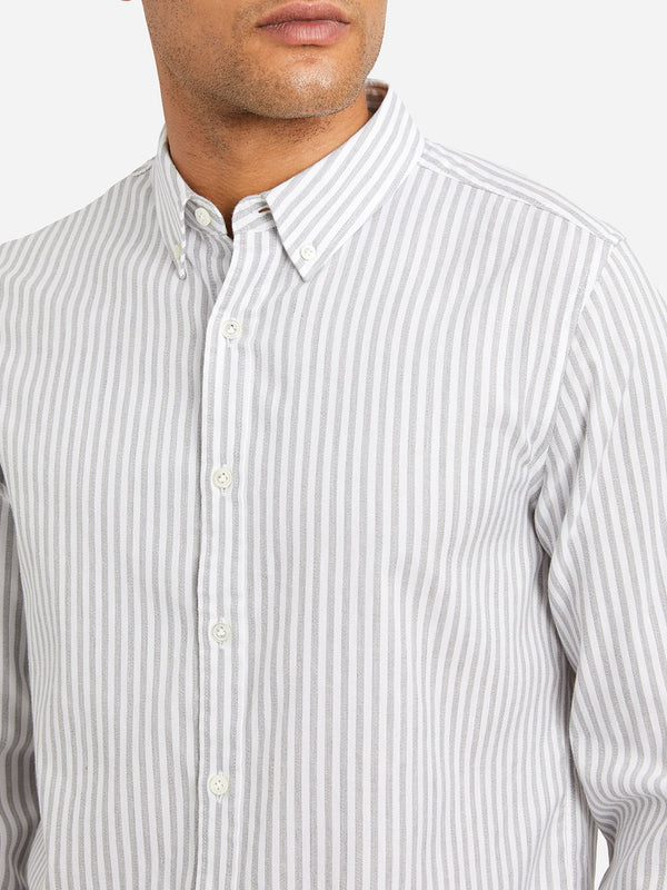 GREY STRIPE oxford shirt mens dress shirts adrian striped oxford shirt ons clothing