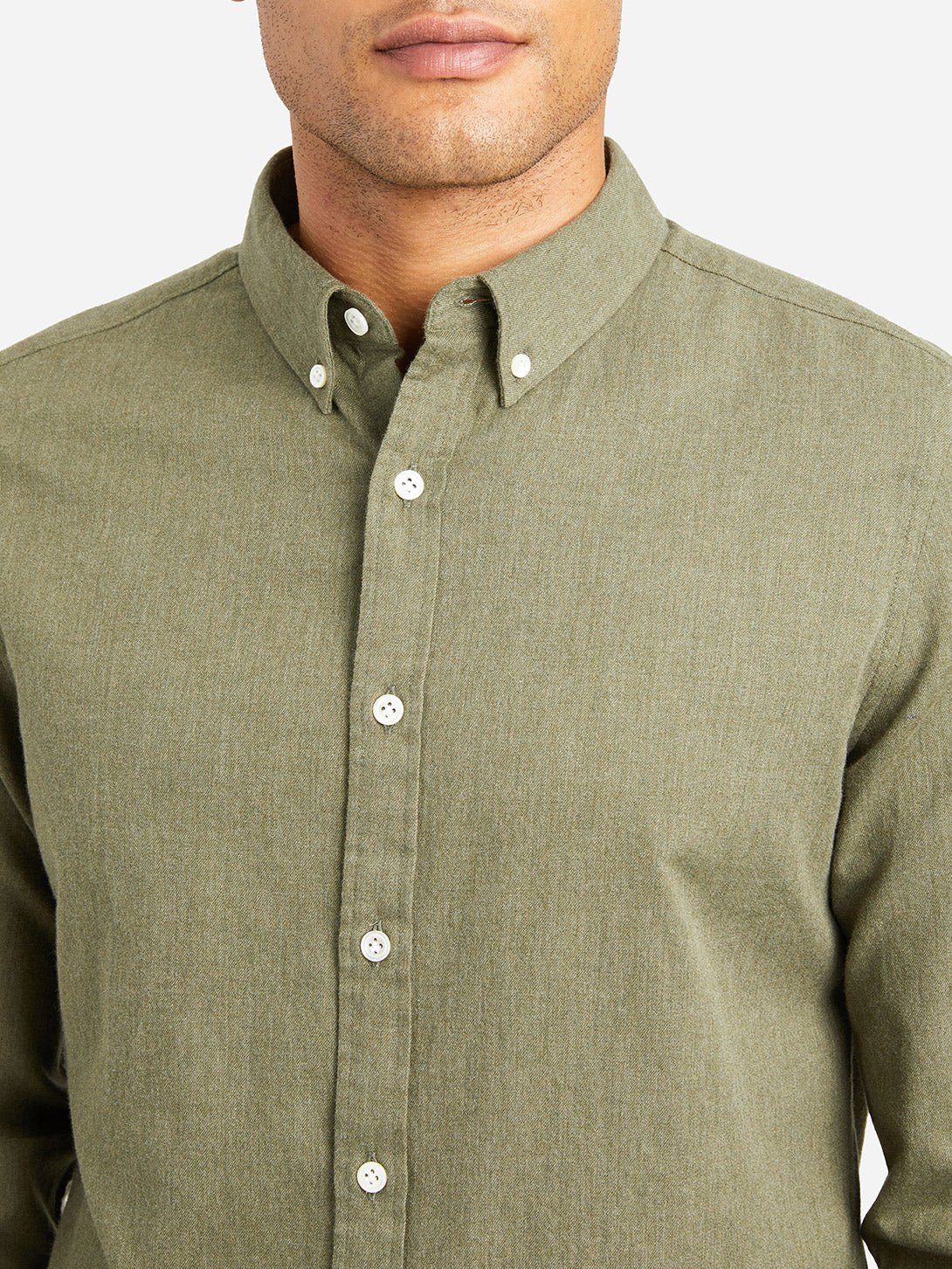 HEATHER GREEN button down collar shirt fulton peached twill shirt green heather
