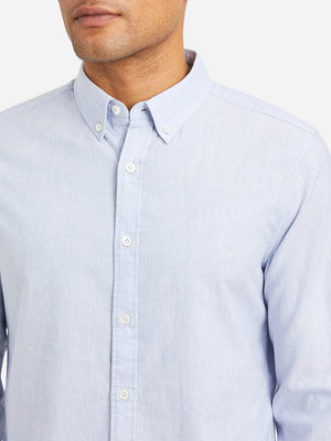 HEATHER BLUE mens oxford shirt fulton oxford shirt blue heather