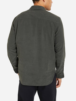 SLATE GREY zip up collar shirt for men emile zip woven shirt by ONS Clothing