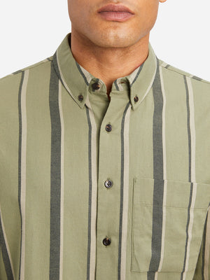 GREEN STRIPE woven shirts for men carlito striped shirt ons clothing