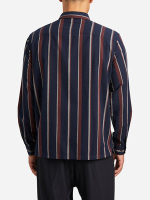 NAVY STRIPE woven shirts for men carlito striped shirt ons clothing