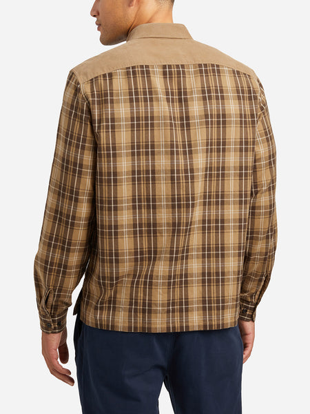 CAMEL woven shirts for men austin mixed media shirt ons clothing