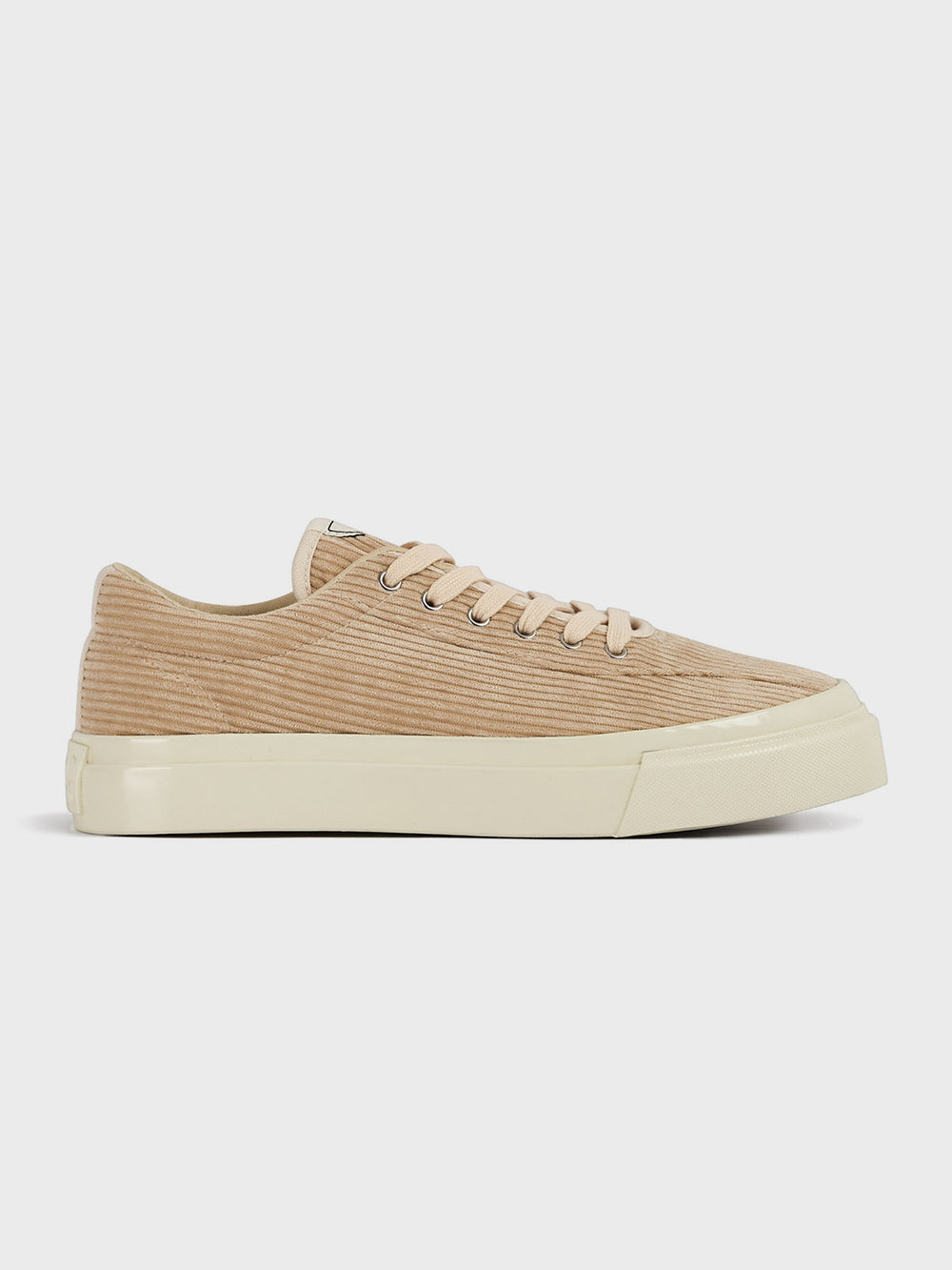stepney workers club dellow cord sneaker shoe ECRU
