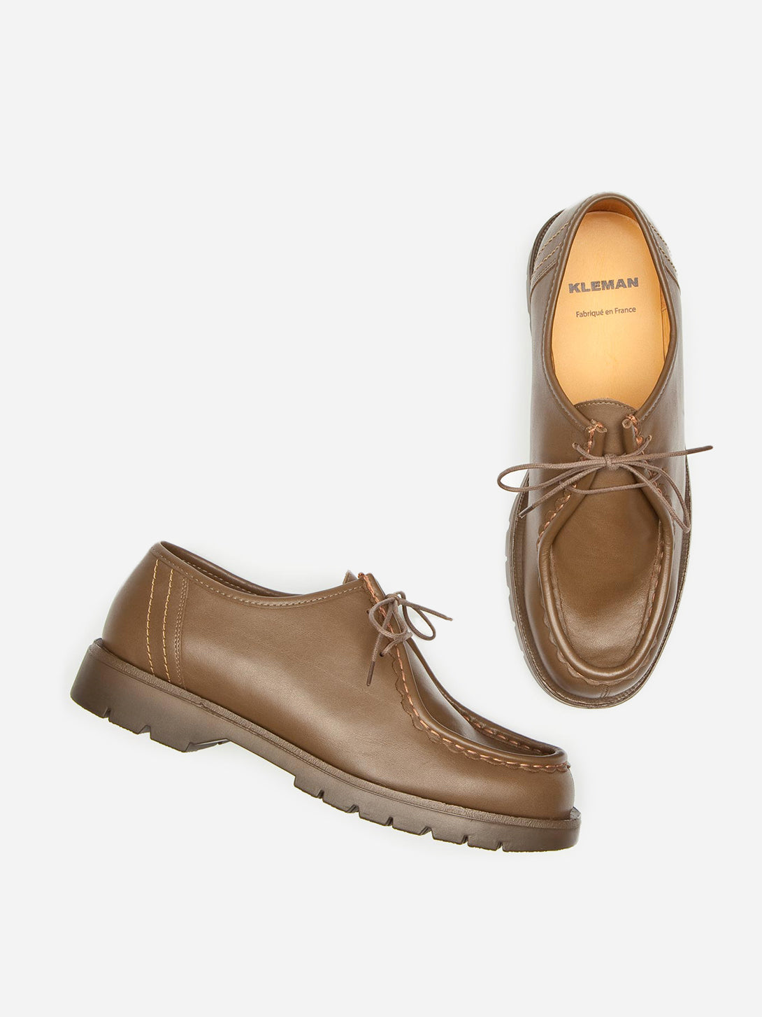 ons mens clothing kleman leather shoes padror TAUPE