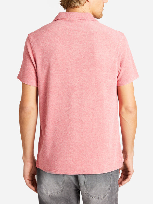 REVERSE TERRY POLO PINK ONS CLOTHING