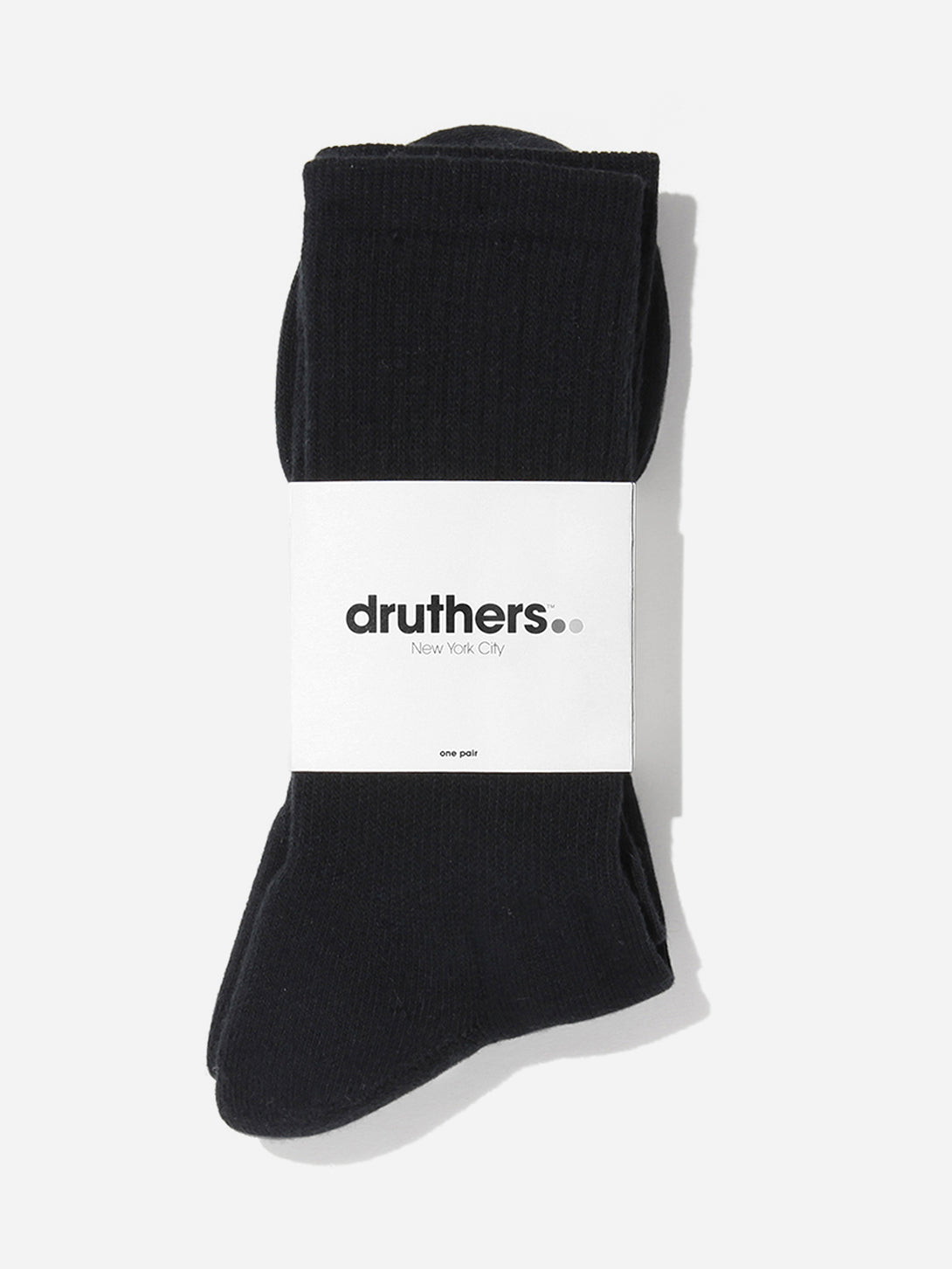 BLACK druthers socks for ons clothing