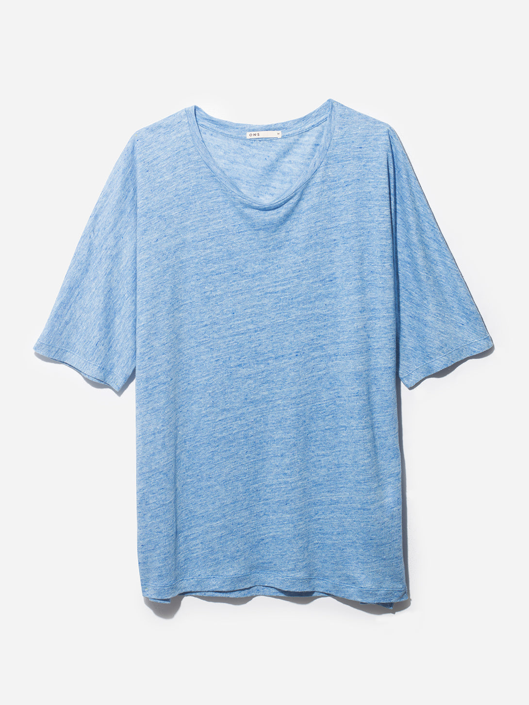 HIGHLAND DOLMAN LINEN TEE OCEAN HEATHER GREY LABEL