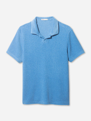REVERSE TERRY POLO BLUE ONS CLOTHING