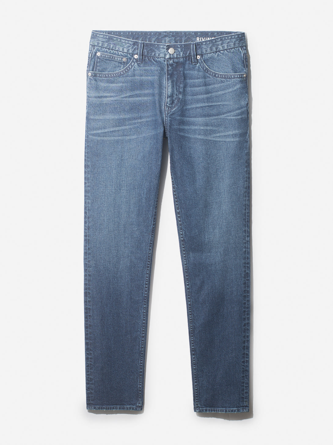 INDIGO DENIM RIVINGTONS MID WASH DENIM