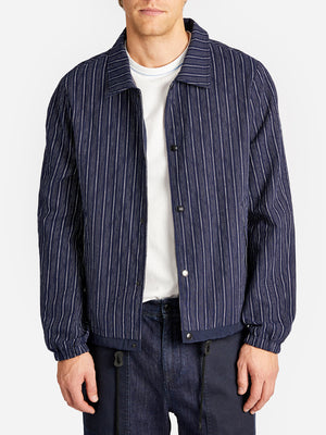 HAWTHORNE REVERSIBLE JACKET NAVY STRIPE GREY LABEL