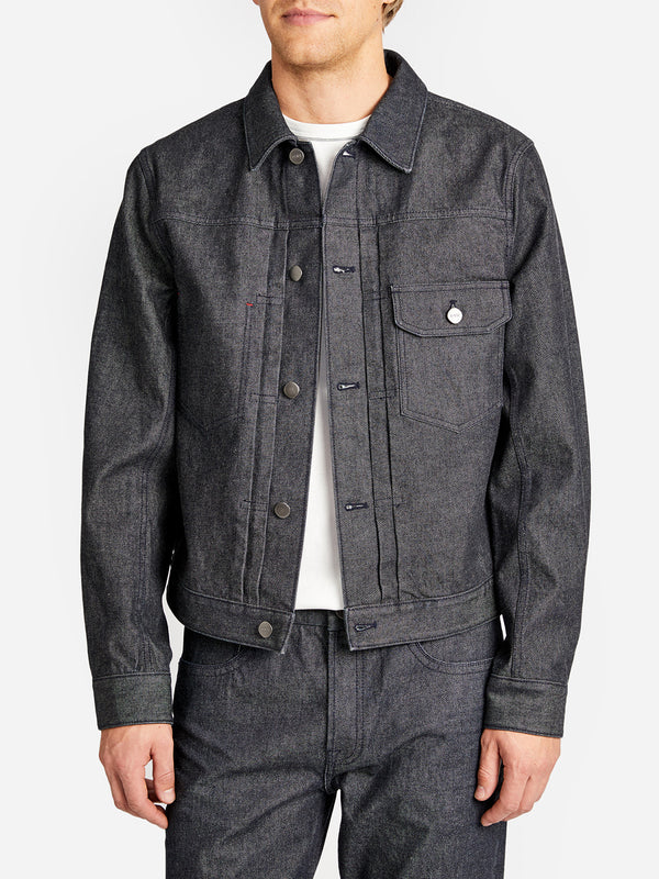 ALDEN SELVEDGE JACKET BLACK GREY LABEL
