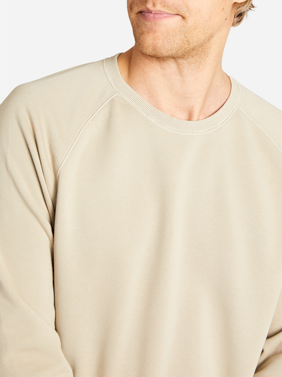 FRENCH TERRY SWEATSHIRT KHAKI HERITAGE LINE