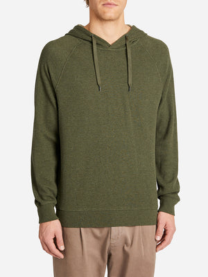 FRENCH TERRY HOODIE GREEN HERITAGE LINE