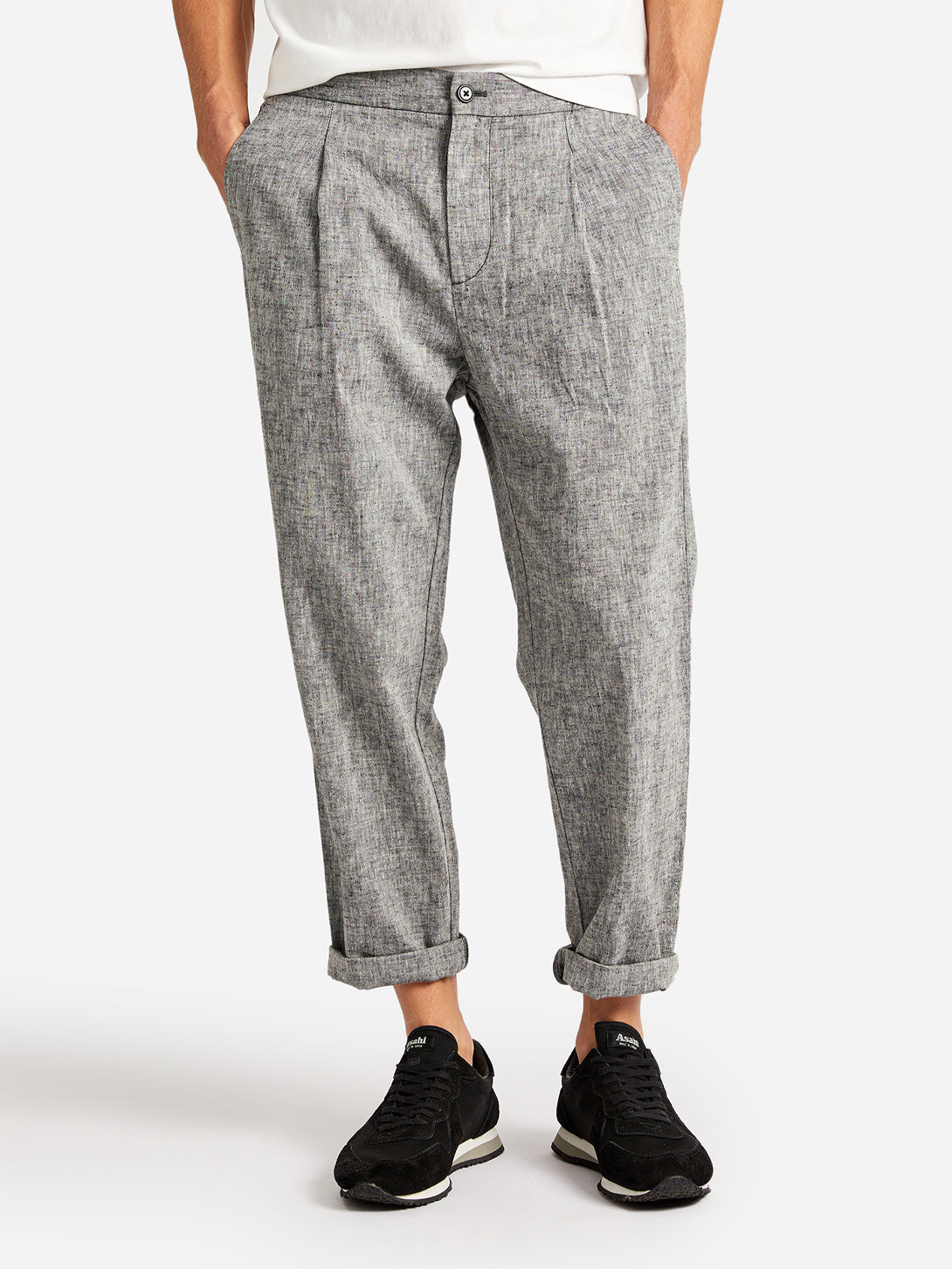 WARD LINEN-BLEND PANT GREY LABEL ONS CLOTHING