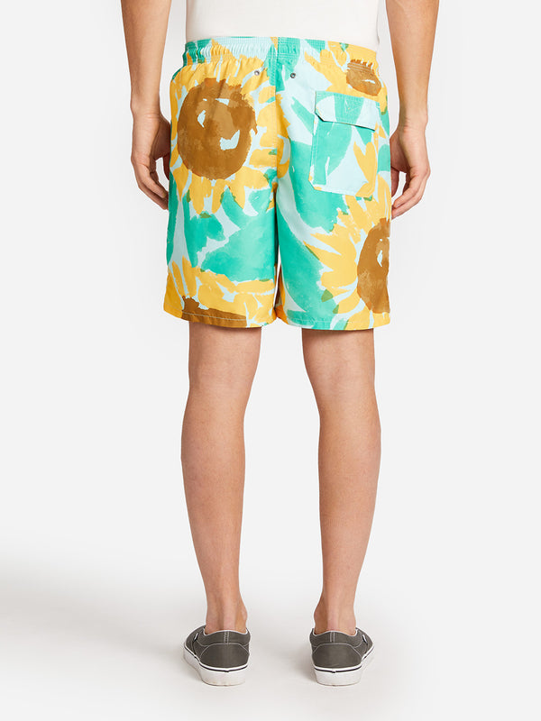LT. BLUE SUN SHOWER SWIM SHORT ONS LEAH GOREN