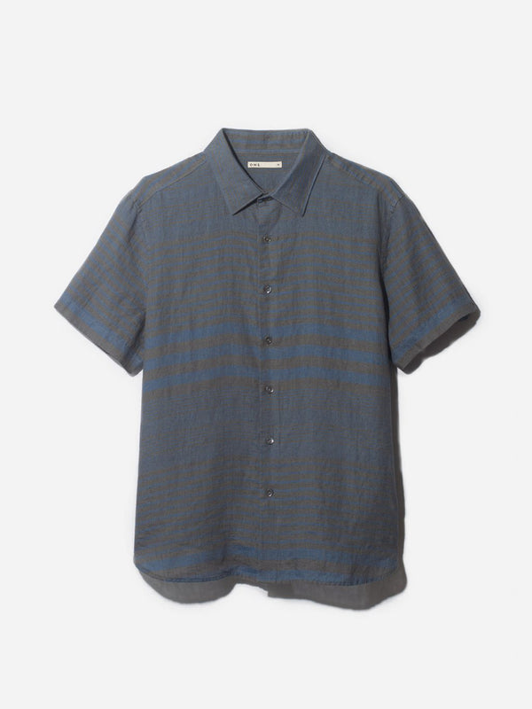 ADRIAN SHORT SLEEVE SHIRT BLUE HERITAGE