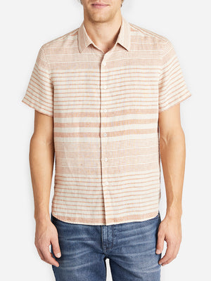 ADRIAN SHORT SLEEVE SHIRT SMOKE ORANGE HERITAGE