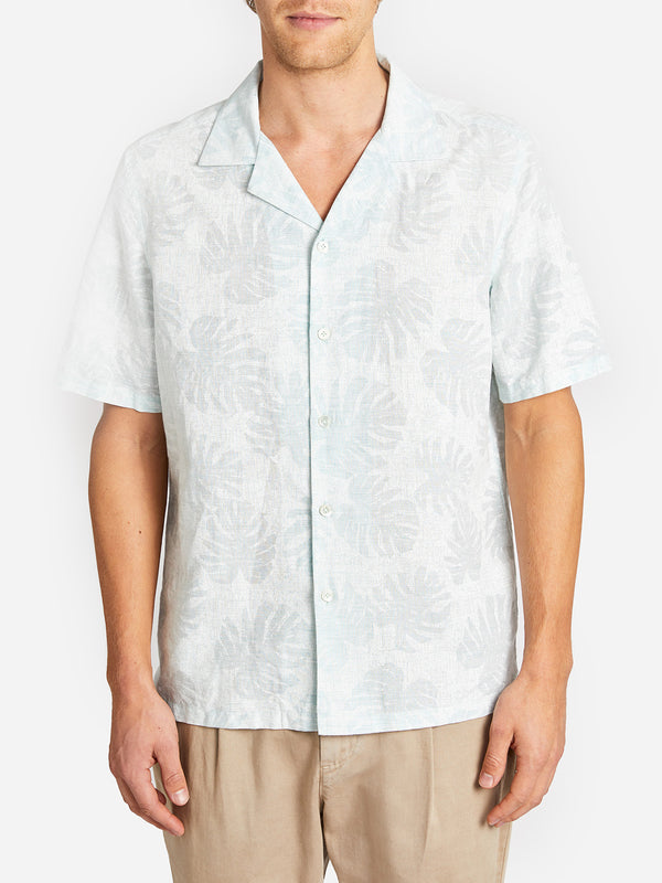 ROCKAWAY PRINT SHIRT LT. GREEN ONS CLOTHING