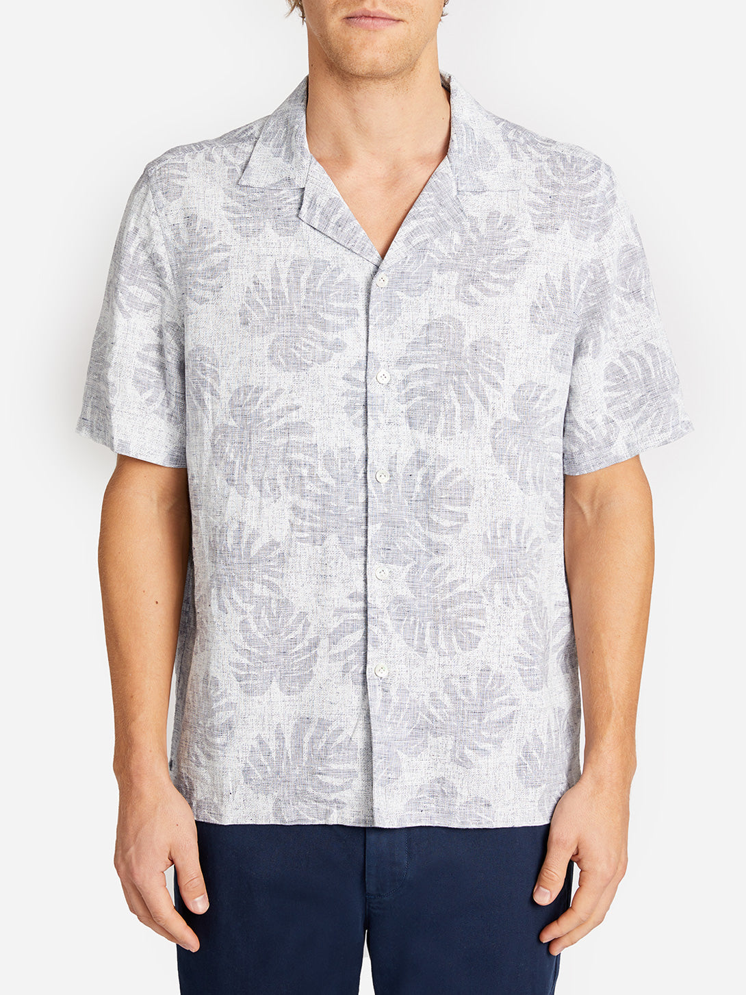 ROCKAWAY PRINT SHIRT LT. NAVY ONS CLOTHING