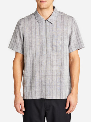 STRADA ZIP POLO MD. GREY CHECK GREY LABEL