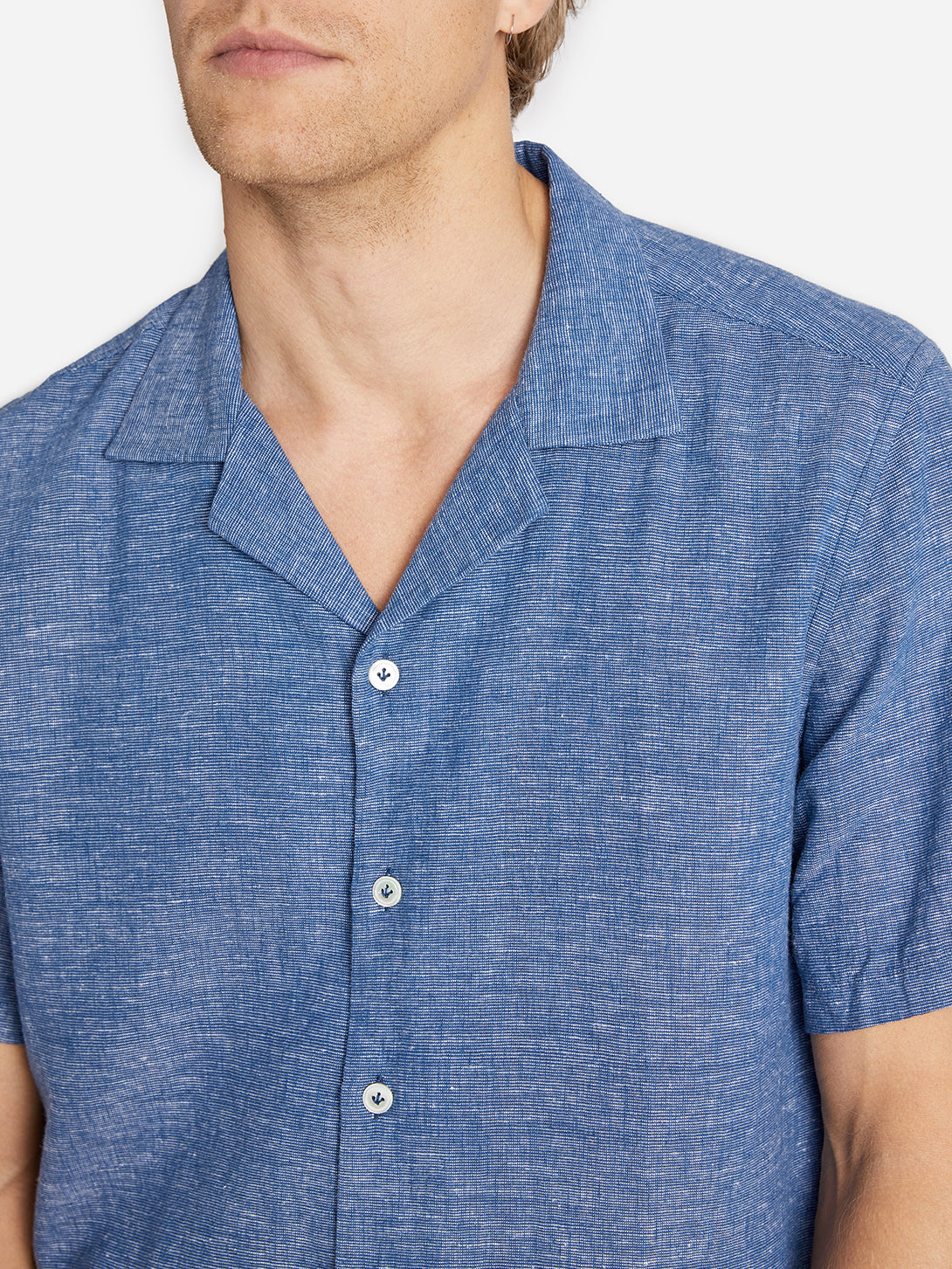RYDE CAMP COLLAR SHIRT INDIGO ONS CLOTHING