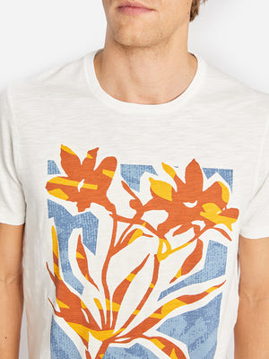 FLOWER VILLAGE CREW ORANGE ONS CLOTHING