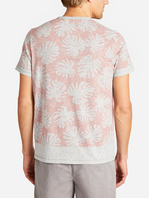 LEAF PRINT VILLAGE CREW DUSTY ROSE ONS CLOTHING