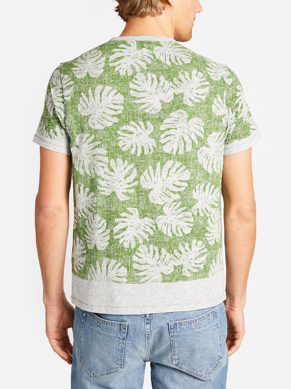 LEAF PRINT VILLAGE CREW GARDEN GREEN ONS CLOTHING
