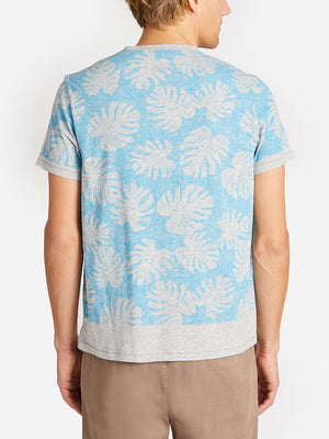 LEAF PRINT VILLAGE CREW BLUE MOON ONS CLOTHING