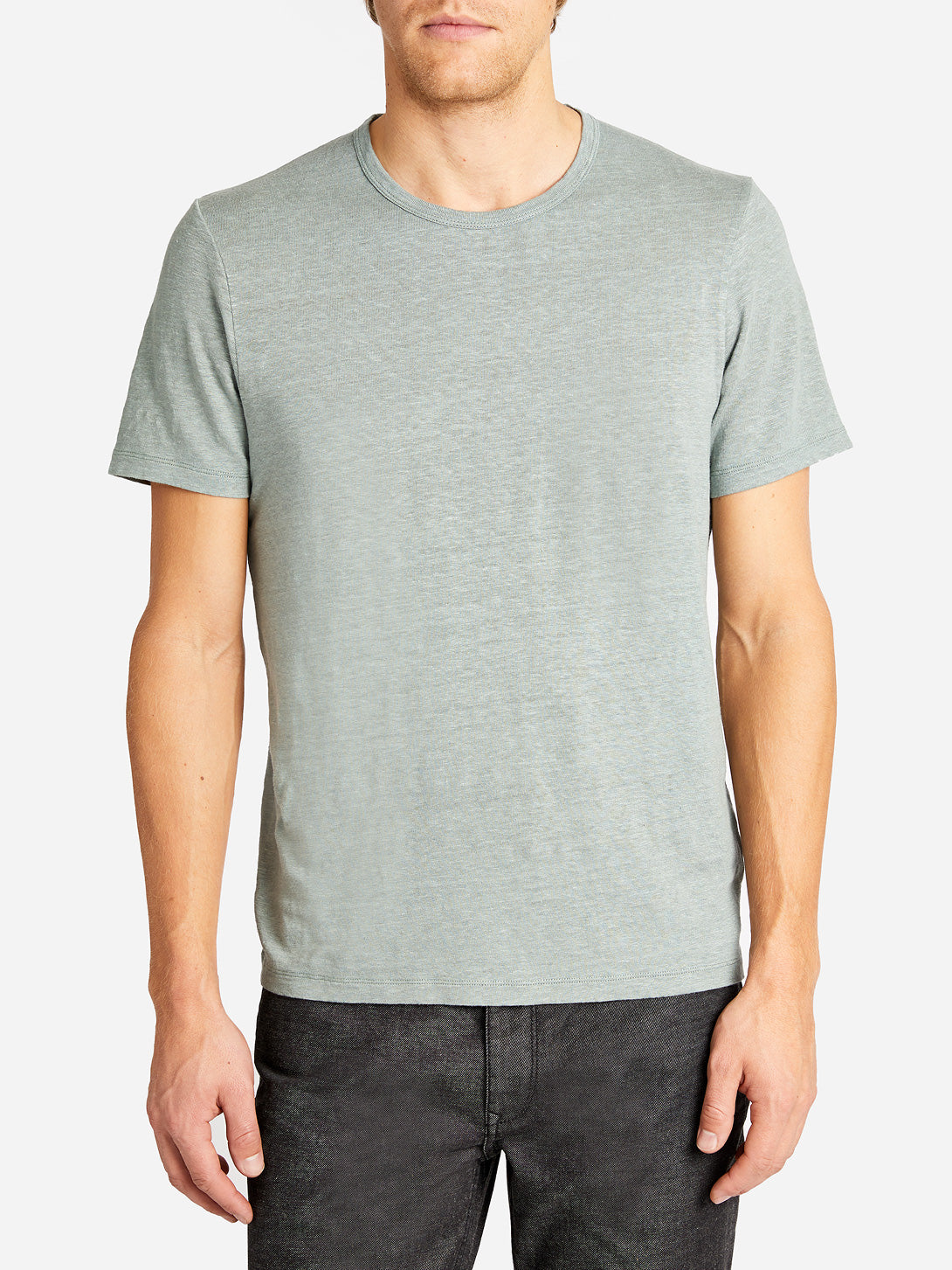 CREW NECK TEE SHIRT SAGE ONS CLOTHING